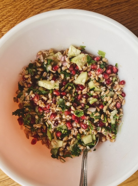 Pomegranate Tabbouleh with Mint